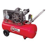Компрессор 100л, 4HP, 3кВт, 220В, 8атм, 500л/мин, 2 цилиндра (PT-0014 Intertool)