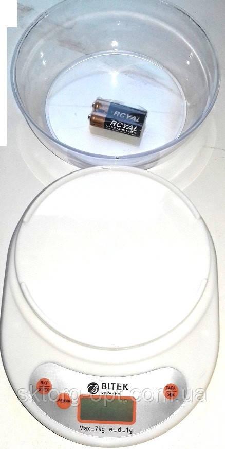 Весы кухонные с чашей ACS KE2 Витек