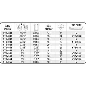 """Ланцюг l= 14""""/ 36 см (56 ланок) для бензопили YT-84900, YT-84940 YATO, фото 2"""