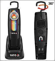 Світильник переносний для підбирання кольорів, світлодіодний 5 Вт Li-Ion акумулят. з зар.- 220В, YT-08509 YATO, фото 2