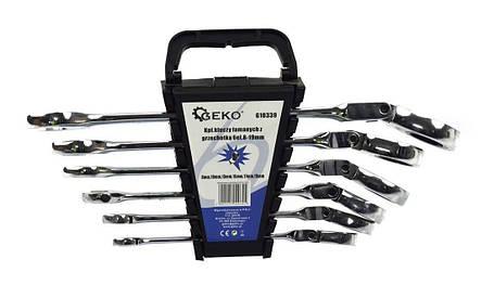 Набор ключей трещоточных шарнирных 6 предметов G10339 GEKO, фото 2