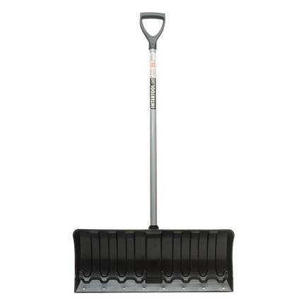 Лопата для уборки снега 620*280мм с ручкой 970 мм, FT-2090 INTERTOOL, фото 2