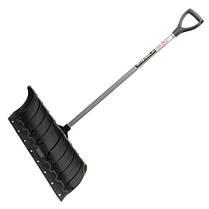 Лопата для уборки снега 620*280мм с ручкой 970 мм, FT-2090 INTERTOOL, фото 3