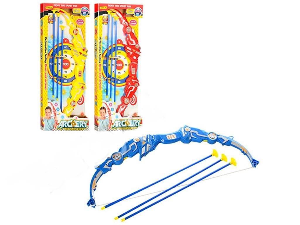 Лук игрушечный  с стрелами-присосками 3 шт. AY328-5-5A-5B