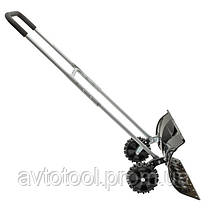 Ковш для уборки снега на колесах 660*320 мм, ручка 1080 мм, FT-2095 INTERTOOL, фото 3