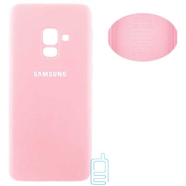Чехол Silicone Cover Samsung A8 2018 A530 розовый