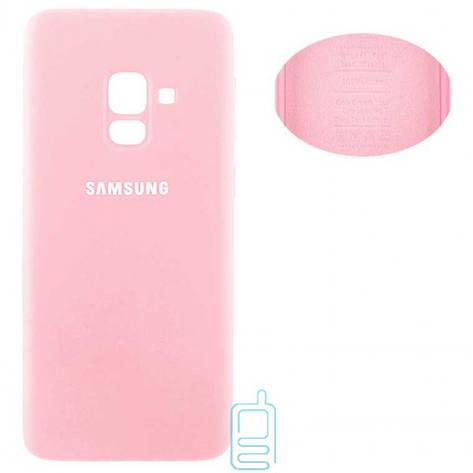 Чехол Silicone Cover Samsung A8 2018 A530 розовый, фото 2