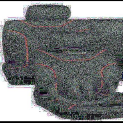 Набор чехлов MILEX, Classic AG-7262/1 полный комплект, 2пер+2задн+5подг/черные, фото 2