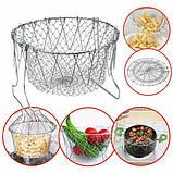 Складная решетка - дуршлаг Magic Kitchen Chef Basket, фото 3