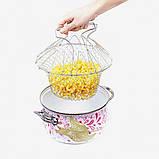 Складная решетка - дуршлаг Magic Kitchen Chef Basket, фото 5