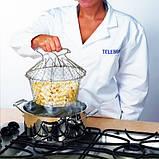 Складная решетка - дуршлаг Magic Kitchen Chef Basket, фото 7
