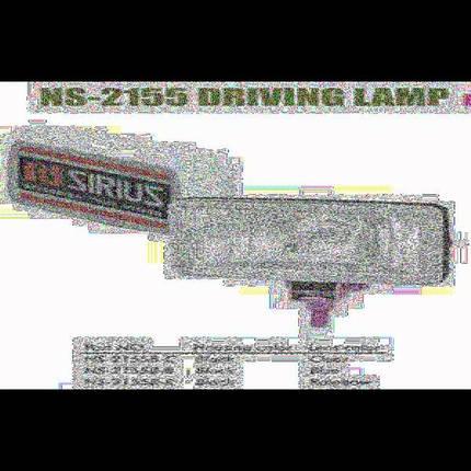 Фары дополнительные NS-2155 B-C H3/12V/55W/150*86mm/крышка, фото 2