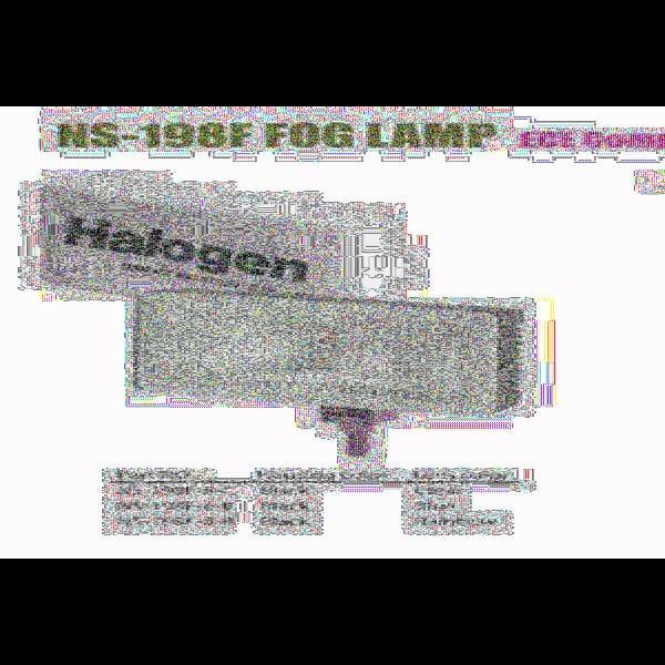 Фары дополнительные NS-198 F-B-C H3/12V/55W/крышка