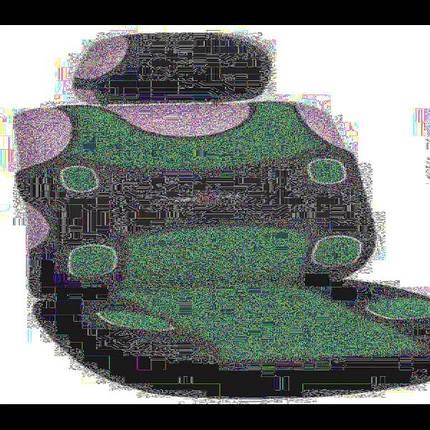 Майки MILEX, Prestige AG-7254, комплект на 2 передних сидения, 2 подголовника, синие (AG-7254), фото 2