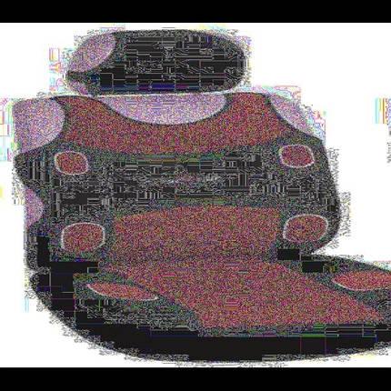Майки MILEX Prestige AG-7253 перед комплект, 2 передних сидения + 2 подголовника красные, фото 2