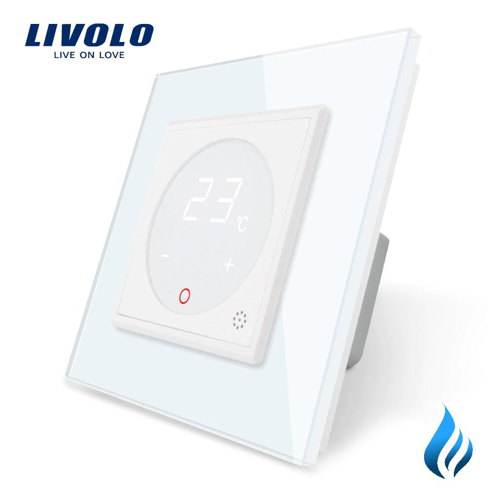 Терморегулятор Livolo для котлов отопления цвет белый (VL-C701TM3-11)