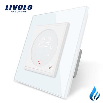 Терморегулятор Livolo для котлов отопления белый (VL-C701TM3-11)