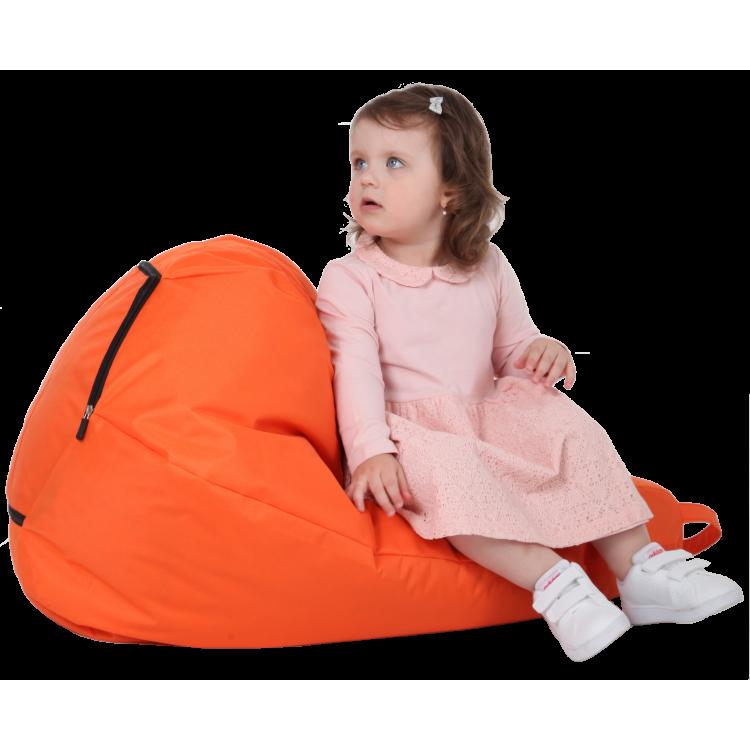Кресло-мешок Груша оранжевая 60х90