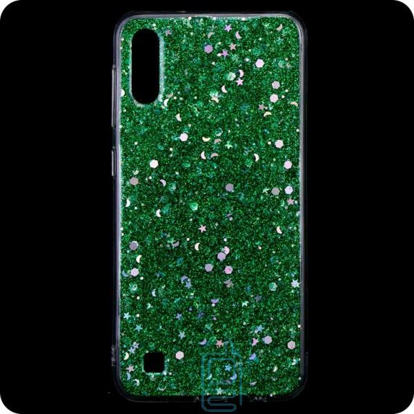 Чехол силиконовый Конфетти Samsung A10 2019 A105 зеленый