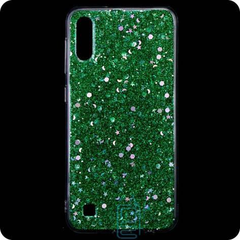Чехол силиконовый Конфетти Samsung A10 2019 A105 зеленый, фото 2
