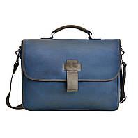 Винтажный мужской кожаный портфель, фото 1