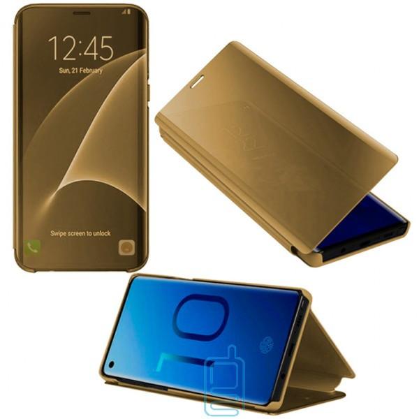 Чехол-книжка CLEAR VIEW Samsung J8 2018 J810 золотистый
