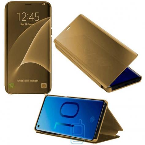 Чехол-книжка CLEAR VIEW Samsung J8 2018 J810 золотистый, фото 2