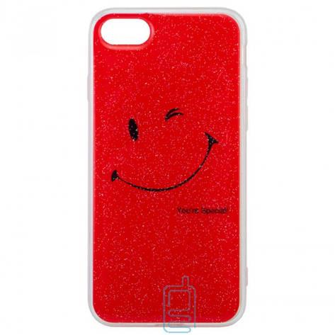 Чехол силиконовый Glue Case Smile shine iPhone 7. 8 красный, фото 2