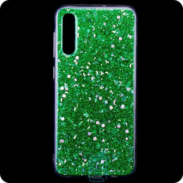 Чехол силиконовый Конфетти Samsung A50 2019 A505 зеленый