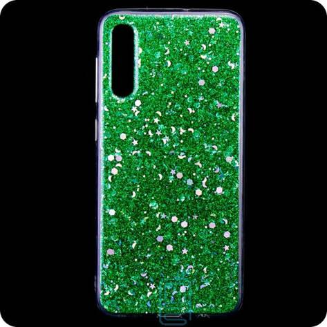 Чехол силиконовый Конфетти Samsung A50 2019 A505 зеленый, фото 2
