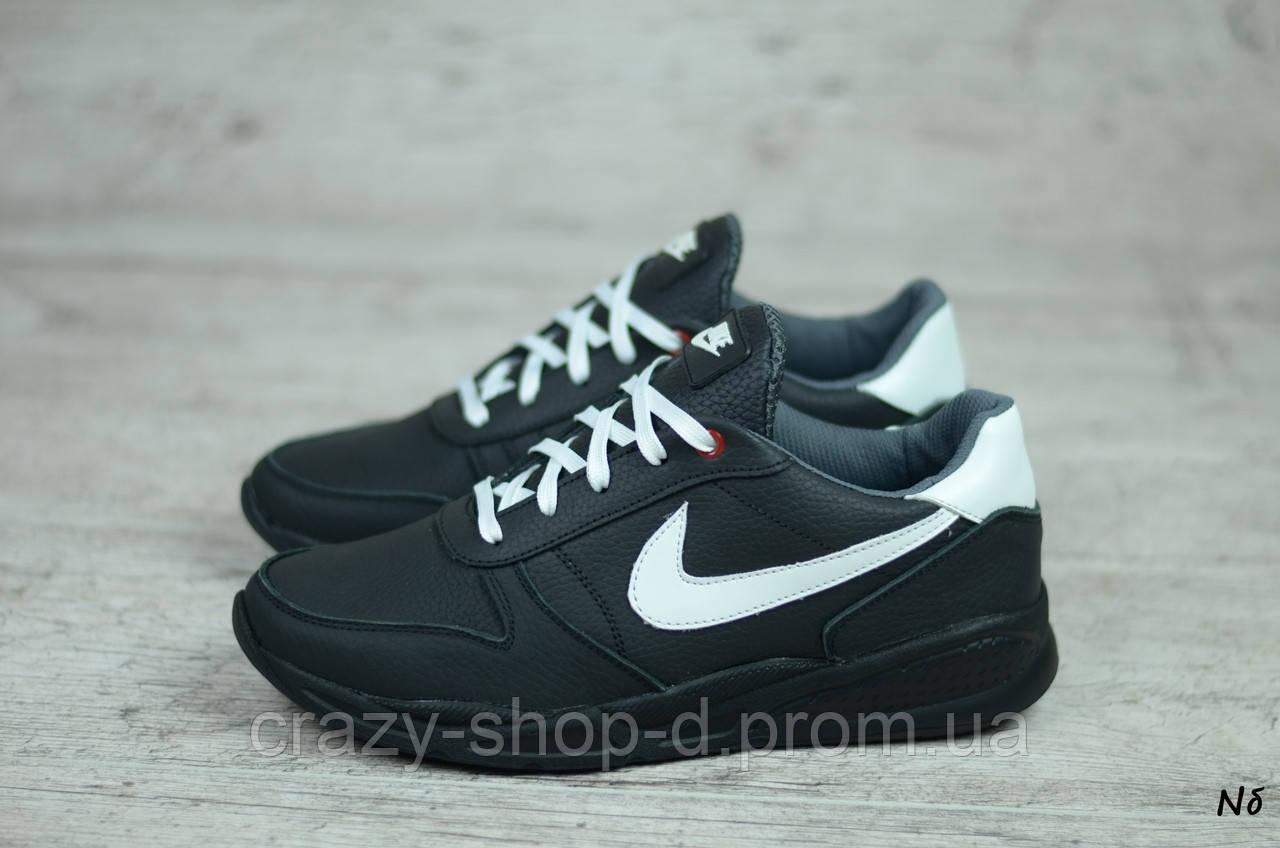 Мужские кожаные кроссовки Nike  (Реплика) (Код: Nб    ) ► Размеры [40,41,42,43,44,45]