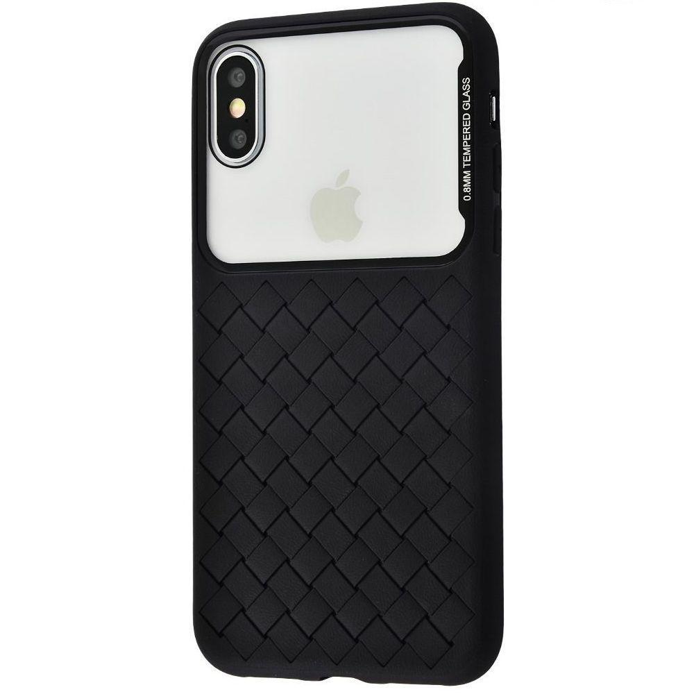 Чохол Baseus Glass And Weaving Case Apple iPhone XS (black) (WIAPIPH58-BL01)