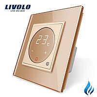 Терморегулятор Livolo для котлов отопления золото (VL-C701TM3-13)