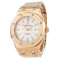 Наручные мужские часы Audemars Piguet Royal Oak Selfwinding Gold-White 0788