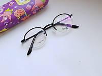 Детская круглая оправа/ очки  Florenzi mini  в черном металле.  Унисекс