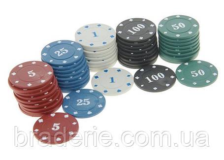 Фишки для покера 100 с номиналом, фото 2