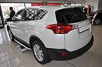 Toyota RAv4 2013 Боковые пороги Fullmond 2 шт алюм
