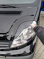 Opel Vivaro 2001-2015 гг. Реснички Porsche-style Черный мат