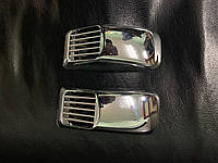 Mazda 3 2013↗ гг. Решетка на повторитель `Прямоугольник` (2 шт, ABS)