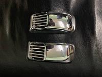 Volvo S40 2004-2012 гг. Решетка на повторитель `Прямоугольник` (2 шт, ABS)