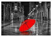 """Картина по номерам 50х40см Rainbow Art """"Красный зонтик"""""""