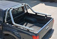 Nissan Navara 2016↗ Ролл-бар на кузов из нержавейки 76мм