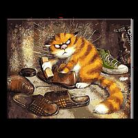 """Картина по номерам 50х40см Rainbow Art """"Недовольный кот"""""""
