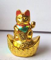 Манэки нэко  (кот счастья, манящий кот) фэн - шуй, высота 9 см.