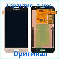 Original дисплей Samsung Galaxy J1 2016 золотистый (LCD экран, тачскрин, стекло в сборе), Original дисплей Samsung Galaxy J1 2016 золотистий (LCD