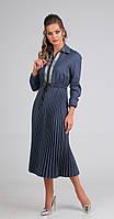 Платье Sandyna-13599 белорусский трикотаж, индиго, 44