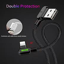 Кабель Lightning Mcdodo с двусторонним USB разъемом LED индикацией для зарядки и передачи данных (Черный), фото 3