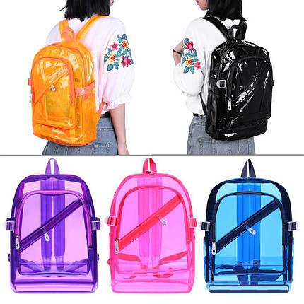 Большой прозрачный силиконовый рюкзак, фото 2