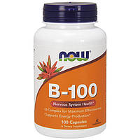 Харчова добавка NOW Foods B-100 100 Caps