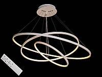 Светодиодная подвесная люстра с регулируемой высотой и пультом-диммером белая 9079-80*60*40, фото 1